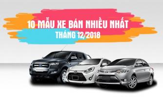 Top 10 Mẫu xe ô tô bán được nhiều nhất trong tháng 12/2018