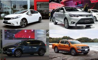 Top 10 Mẫu xe ô tô bán chạy nhất trong tháng 1/2019