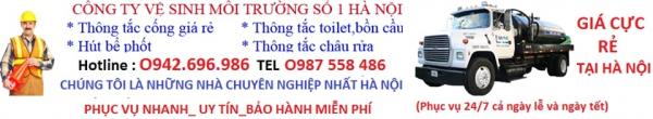 Top 4 Công ty Hút Bể Phốt – Thông Tắc Cống uy tín nhất Hà Nội